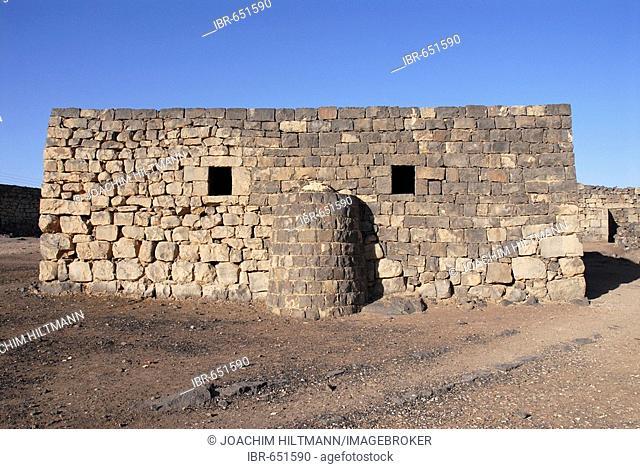 Mosque of the desert castle Qasr Azraq, Jordan