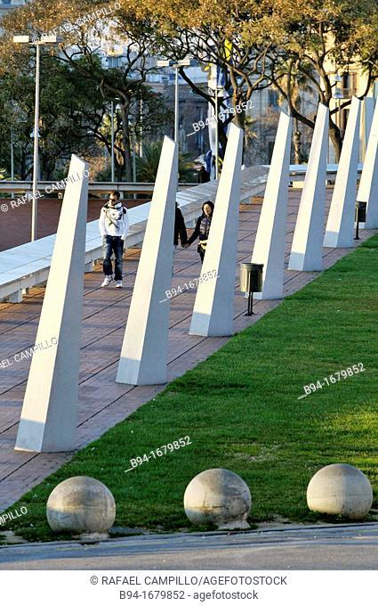 Maremagnum area  Barcelona  Catalonia  Spain