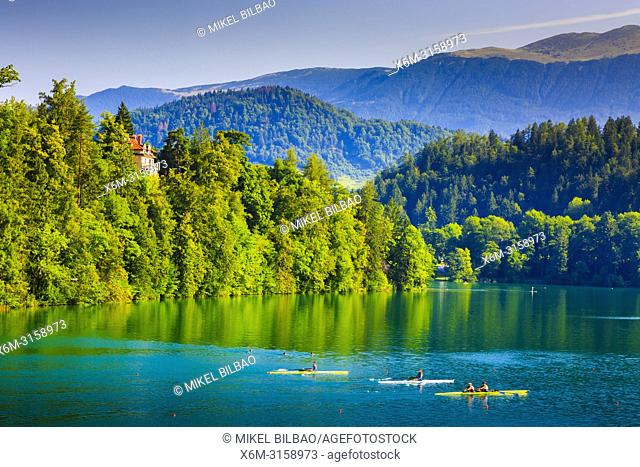 Lake Bled. Julian Alps. Upper Carniola region. Slovenia, Europe