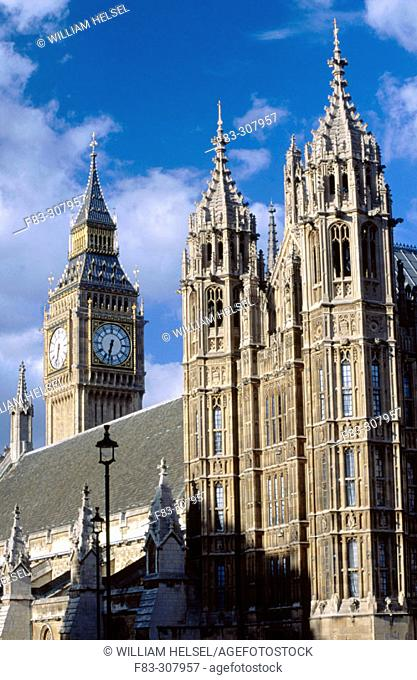 Big Ben and Houses of Parliament. London. England