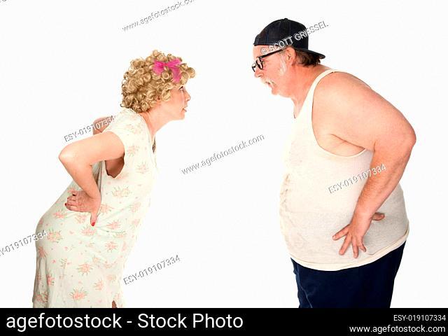 Bickering couple
