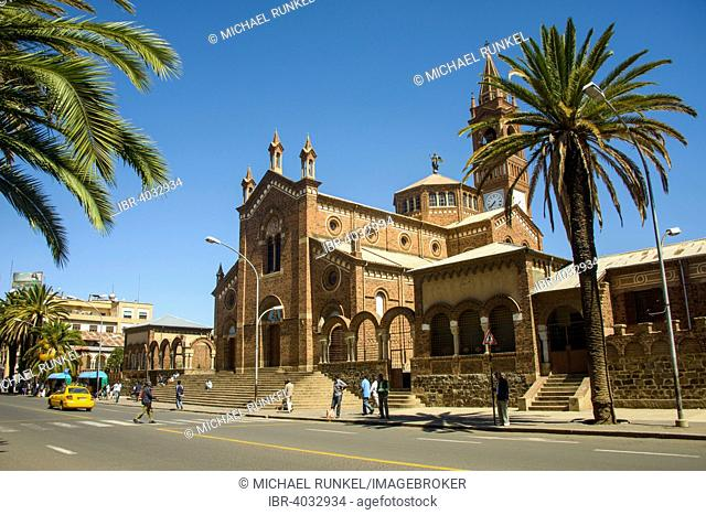 St. Mary's Catholic Cathedral on Harnet Avenue, Asmara, Eritrea