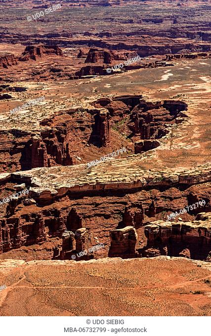 The USA, Utah, San Juan county, Moab, Canyonlands National Park, Island in the Sky, Grand View Point Overlook