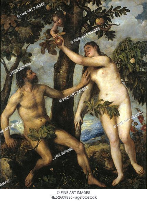 Adam and Eve, c. 1550. Artist: Titian (1488-1576)