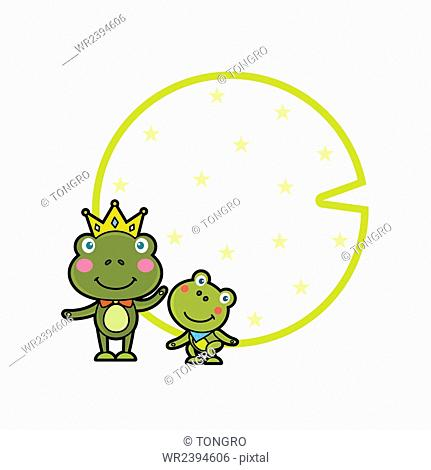 Copy space with frogs image
