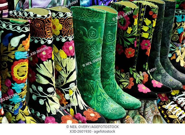 Colorful Turkish Boot Sourvenirs in Istanbul, Turkey