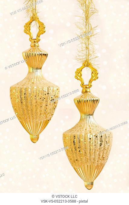 Golden Christmas baubles