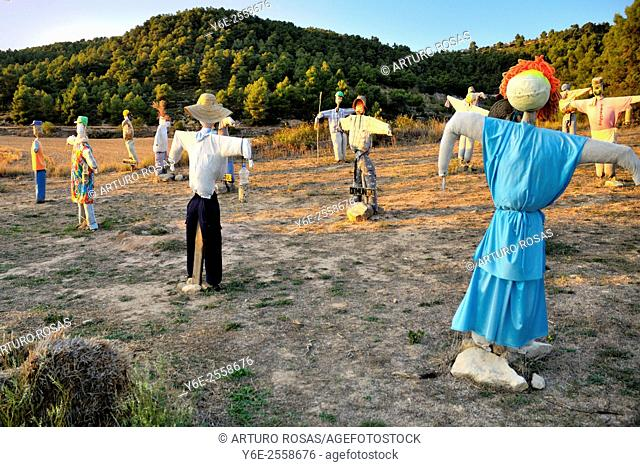 Scarecrows near Vallbona de les Monges (Tarragona), Spain