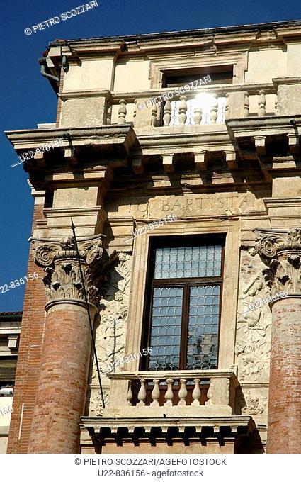 Vicenza Italy, the Loggia del Capitaniato in Piazza dei Signori