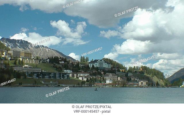 View over Lake Lake St.Moritz, Engadin, Switzerland