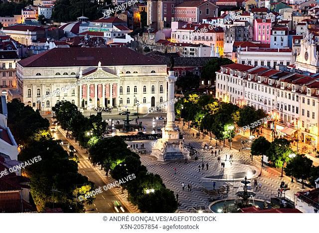 D. Pedro IV Square, Lisbon, Portugal, Europe