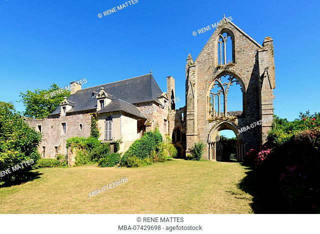 France, Cotes d'Armor, stop on the Way of St James, Paimpol, Beauport abbey 13th century