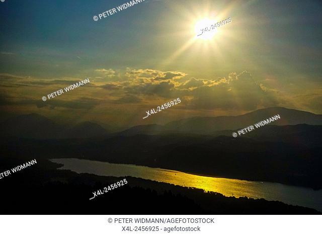 Pyramidenkogel, lake Woerthersee, Carinthia, Austria