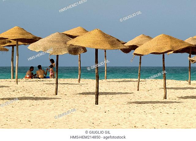 Tunisia, south region, Djerba island, East of island, sea side and beaches
