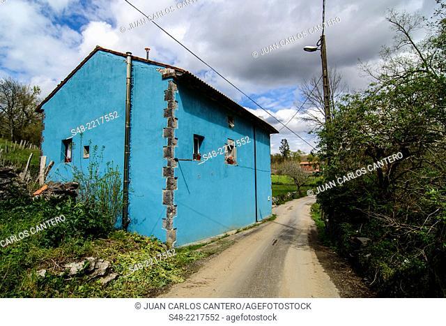 Rural setting in Cantabria. Spain, Europe