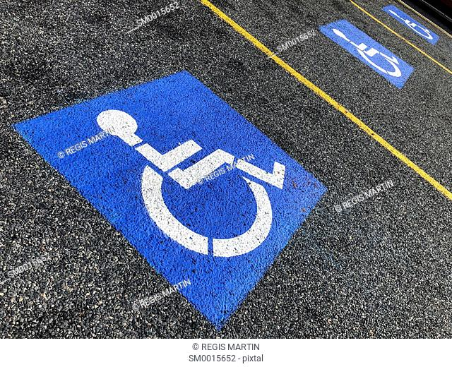 Parking spots reserved for people with disabilities