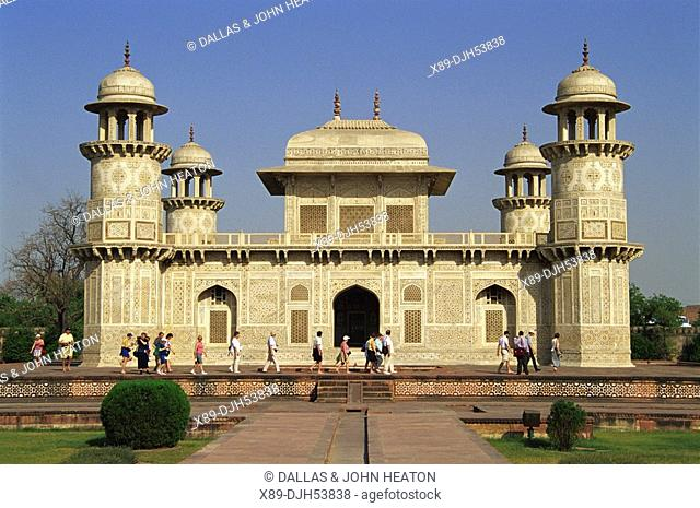 Asia, India, Agra, Little Taj Mahal, Tomb of Itimad-ud-Daulah