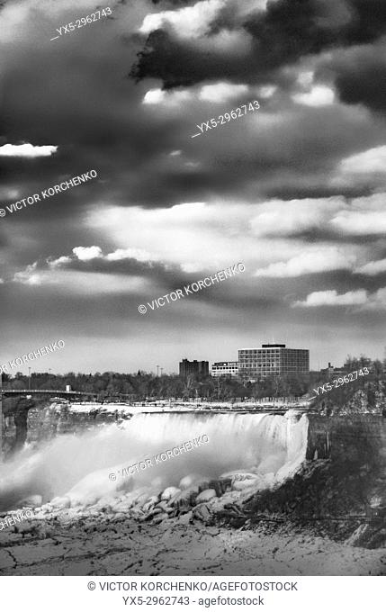 Niagara Falls in winter. American Falls