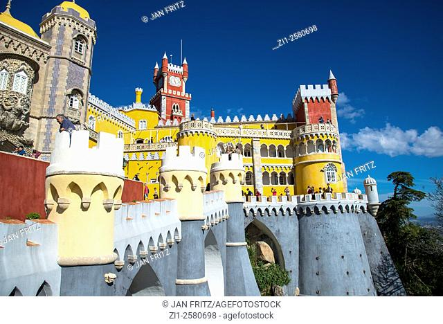 detail of sintra palace portugal