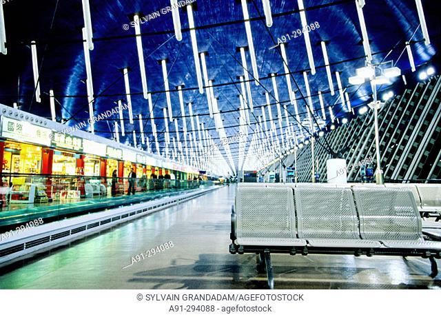 New Shanghai International Airport by architect Paul Andreu, Pudong. Shanghai. China