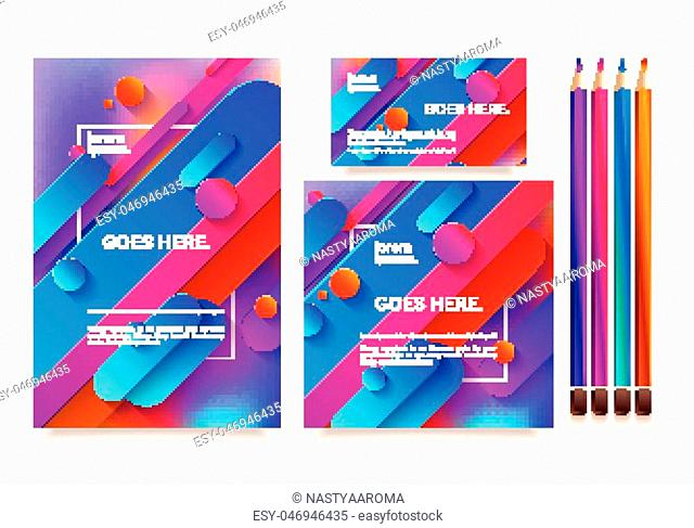 Business templates for multipurpose presentation. Easy editable vector EPS 10 layout. Northern Lights neon effect on purple background event party flyer
