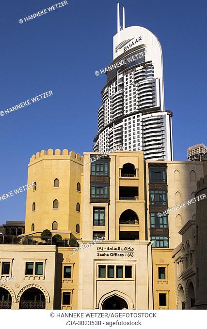 The Emaar Tower behind Saaha Offices in Dubai