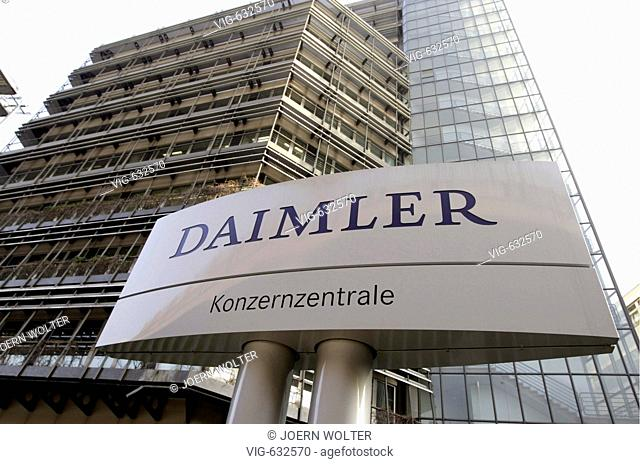 GERMANY, STUTTGART, 14.02.2008 Headquarters of Daimler AG in Stuttgart. - STUTTGART, BADEN-WUERTTEMBERG, GERMAMY, 14/02/2008