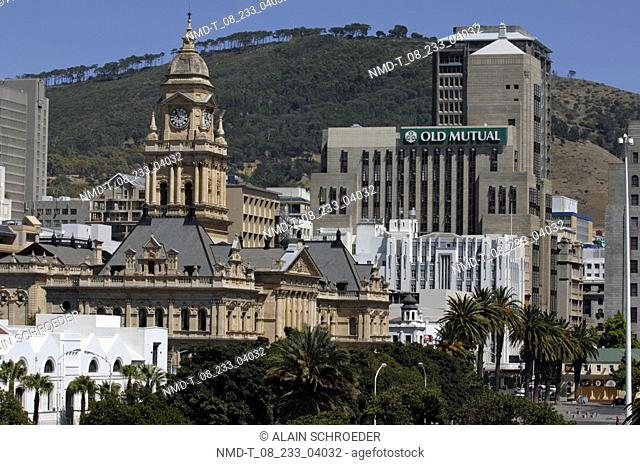Buildings in a city, City Hall, Cape Town, Western Cape Province, South Africa