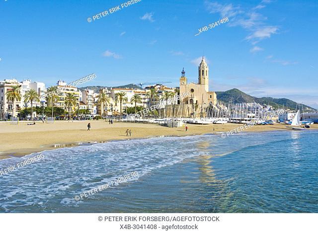 Platja de la Fragata, Sitges, Catalonia, Spain