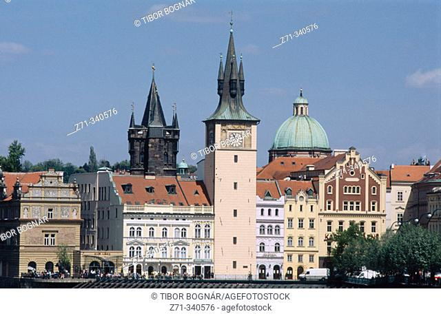 Old Town skyline, Smetana Museum. Prague. Czech republic