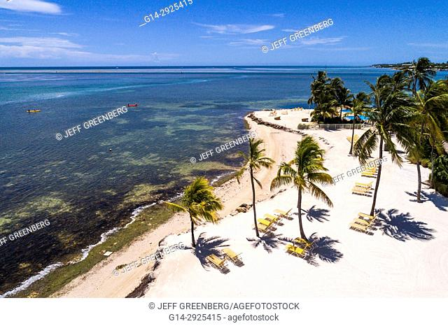 Florida, Florida Keys, Upper, Islamorada, Whale Harbor, Atlantic Ocean, Windley Key, aerial overhead view above bird's eye