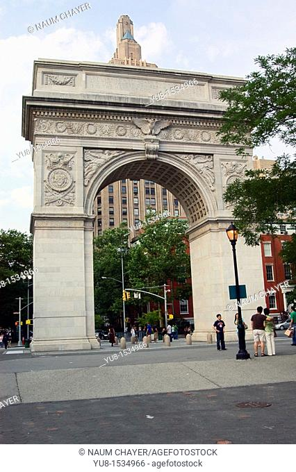 The Washington Square Arch, Greenwich Village, New York City, state of New York, United States, USA