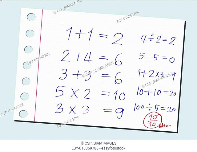 sketch numbers and mathematics symb