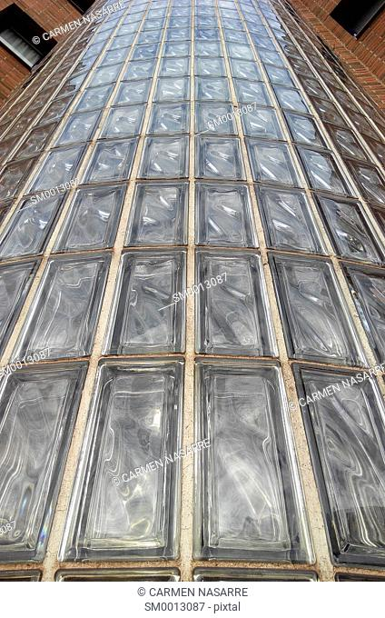 Stairwell with glass bricks