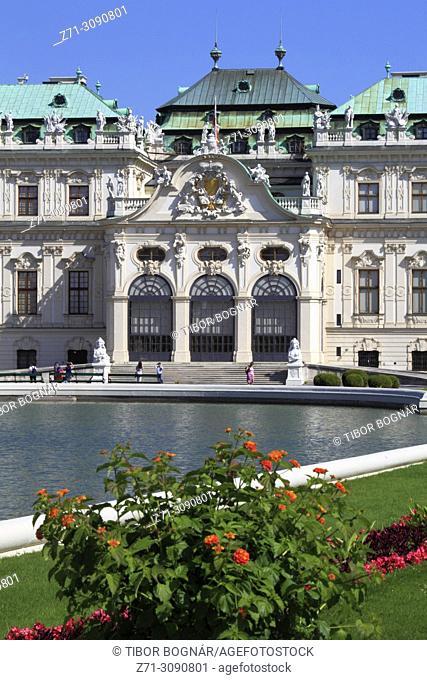 Austria, Vienna, Oberes Belvedere, palace, garden,