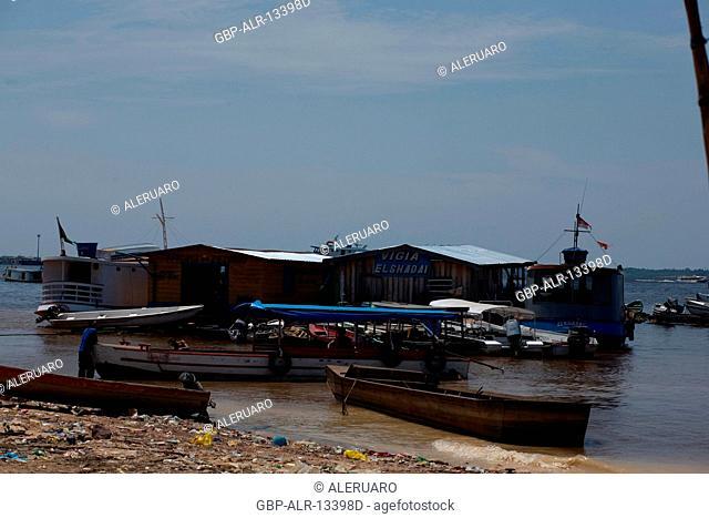 Flotation bar, Boats, São Raimundo Neighborhood, Manaus, Amazônia, Amazonas, Brazil