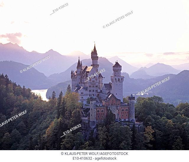 The castle Neuschwanstein near Füssen. Germany