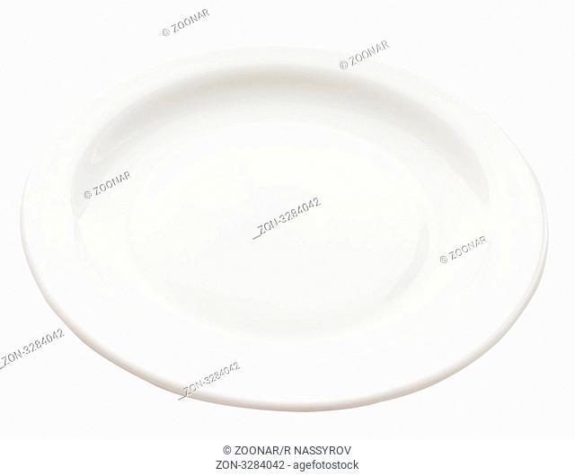 round white plate on white