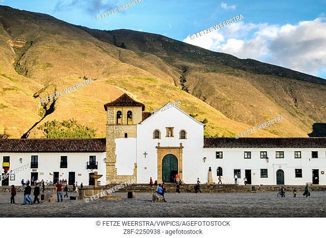 The Main Square of Villa de Leyva, the biggest square of Colombia