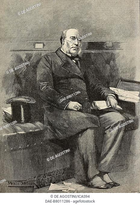 Portrait of William Henry Smith (1825-1891), English bookseller, in the House of Commons, engraving from The Illustrated London News, No 2738, October 10, 1891