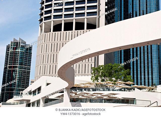 High rise tower blocks at Riverside, Brisbane, Queensland, Australia