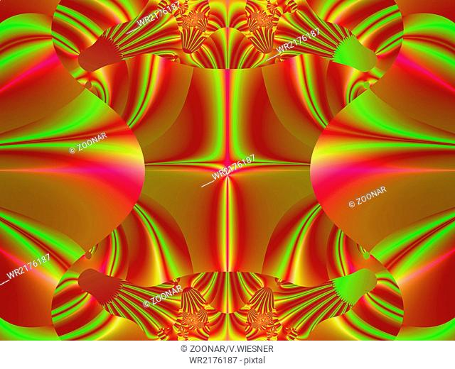 Colorful fractal decorative feature, magic splendor, wonderful harmony and fractal lines. A-0633
