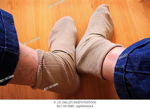 older man's feets