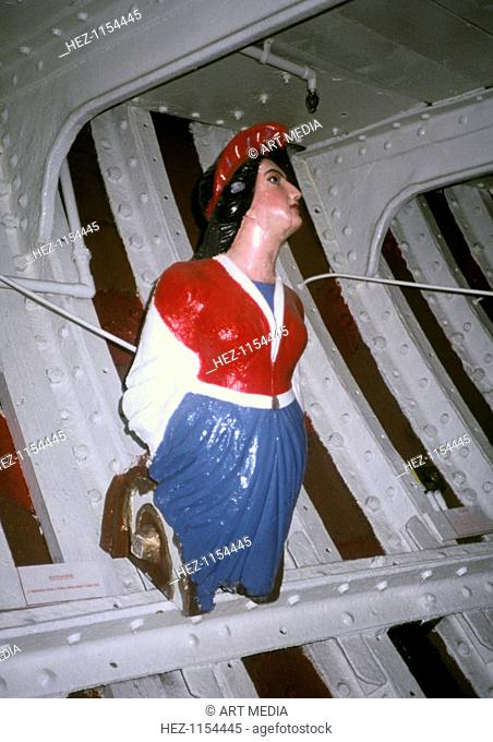 Marianne, figurehead from a French Grand Banks fishing boat. From the National Maritime Museum, Greenwich, London