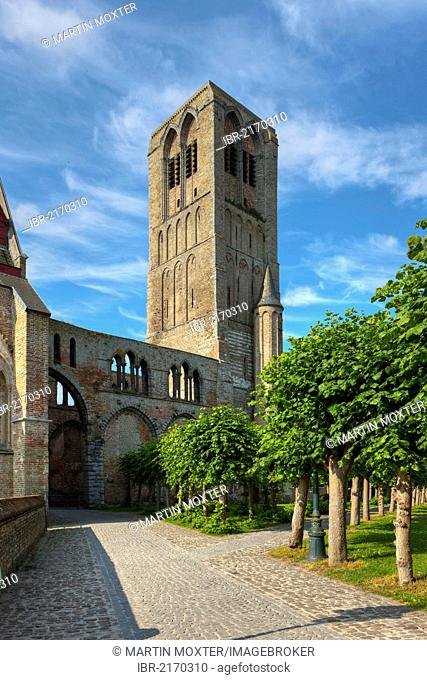 Church of Our Lady and cemetery, Damse Vaart-Zuid, Damme, Bruges, West Flanders, Flemish Region, Belgium, Europe
