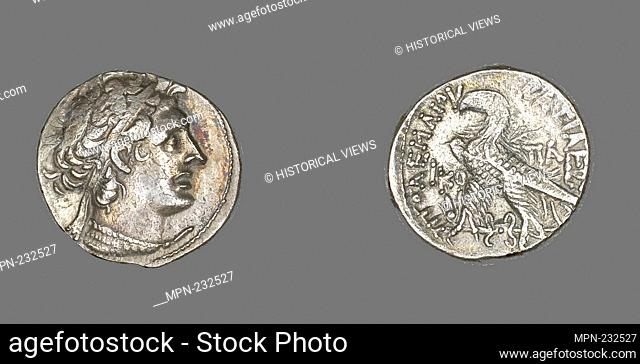Tetradrachm (Coin) Portraying King Ptolemy I - Ptolemaic Period (53–52 BC), issued by King Ptolemy XII Auletes, Reign of Ptolemy XII Auletes (80–51 BC) -...