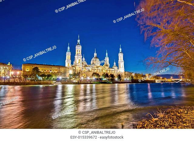 Our Lady of the Pillar Basilica at Zaragoza, Spain