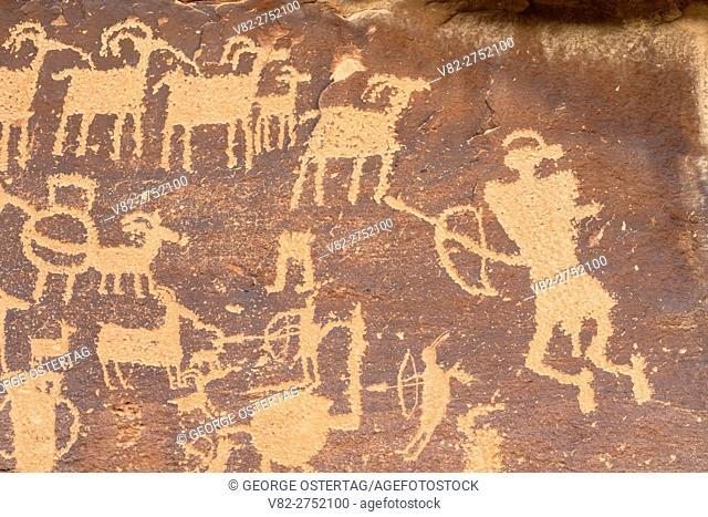 Great Hunt Panel petroglyphs, Nine Mile Canyon National Backcountry Byway, Utah