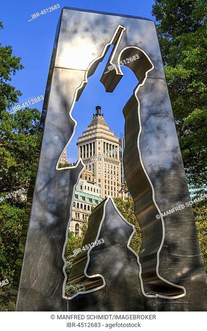 The Universal Soldier, War Memorial Of The Artist Mac Adams, Korea War, Battery Park, Manhattan, New York City, New York, USA