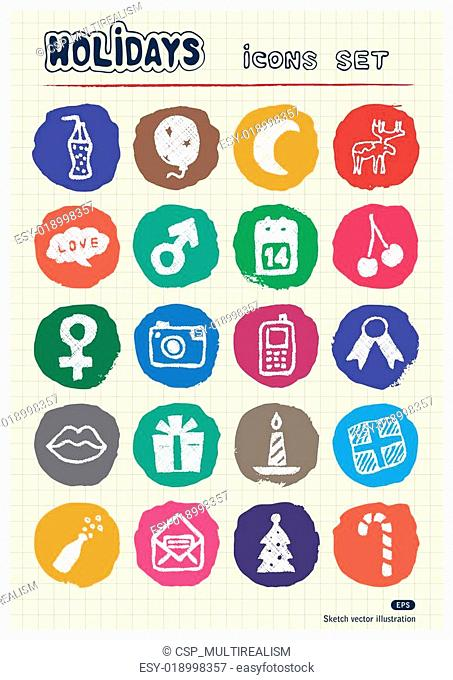 Christmas and other holidays icons